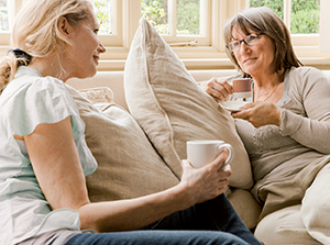 Women relaxing with coffee Source: 86489260